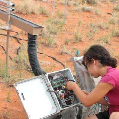 Prescott College Student in the Field